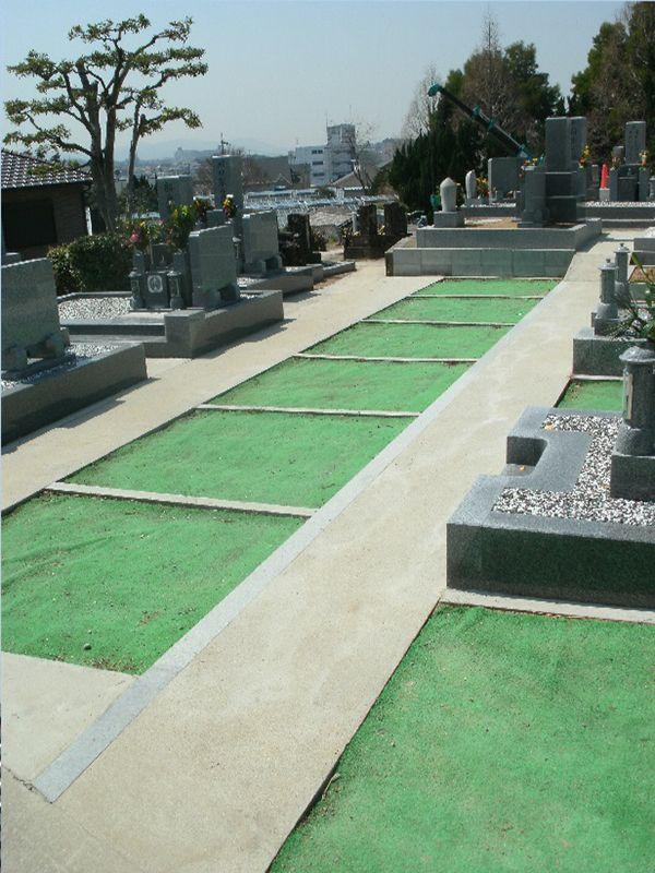 泉南中村区霊園 整備された区画