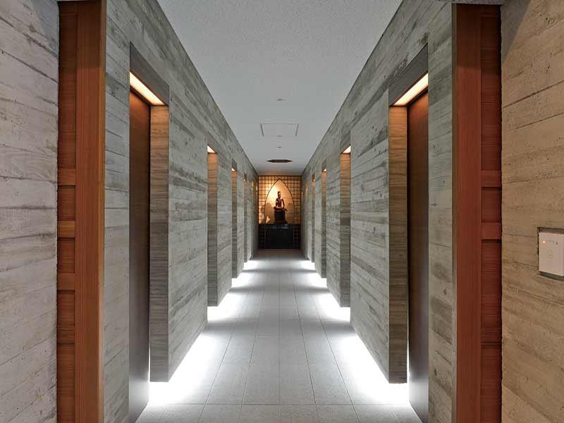 武蔵陵苑の館内