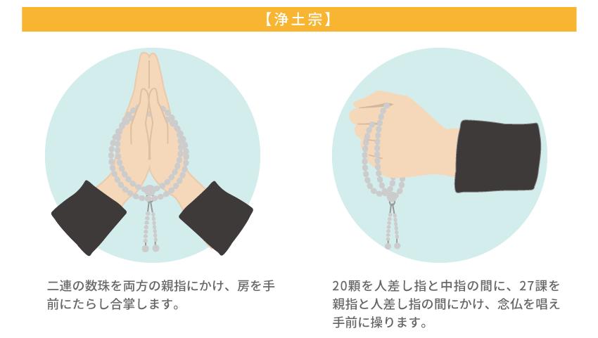 浄土宗の数珠と持ち方解説