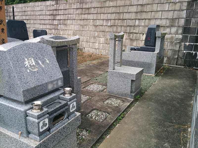 龍洞院 掃除の行き届いた墓域