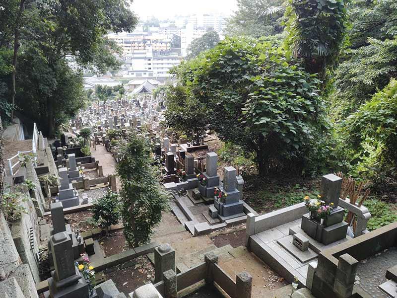 妙秀山 樹源寺 自然に囲まれた墓域