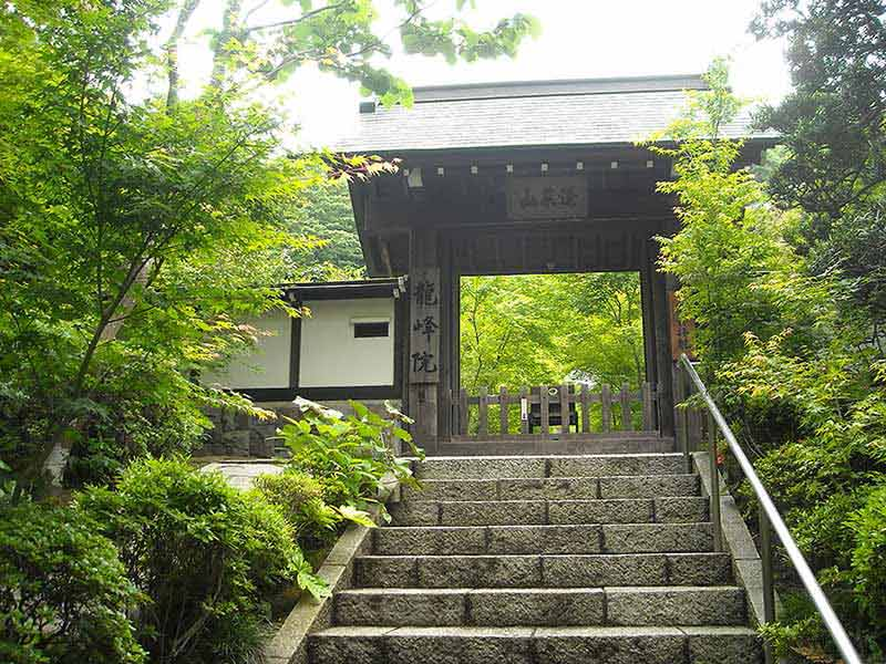 龍峰院 美しい緑に囲まれた山門