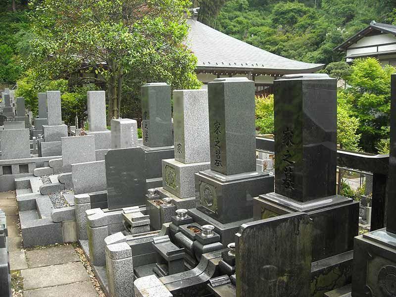 龍峰院 境内から近い墓域