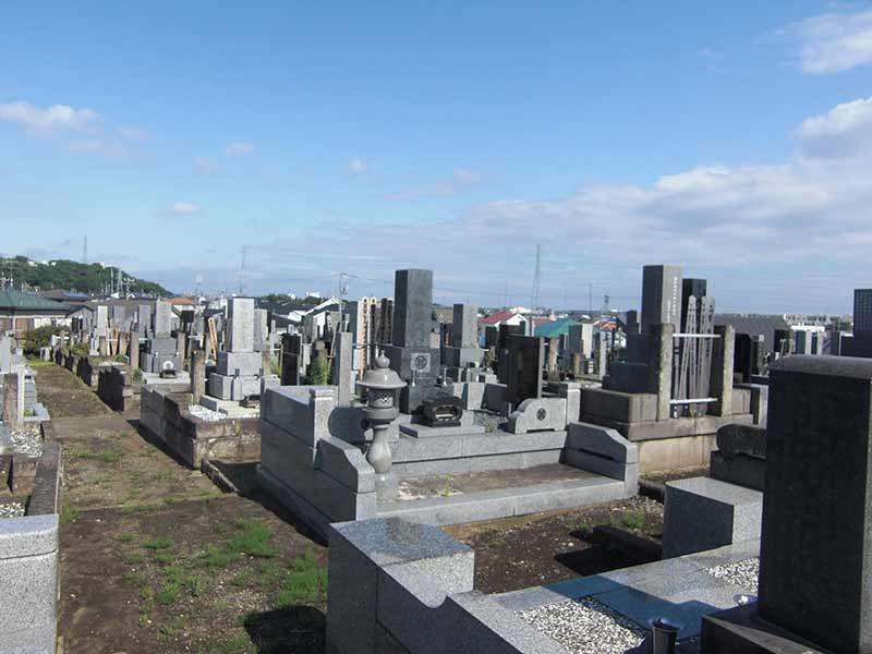 玄珊墓苑 見渡しのよい墓域
