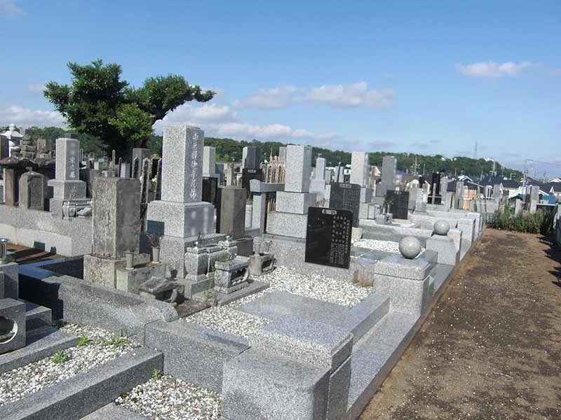 玄珊墓苑 日当たりのよい墓域