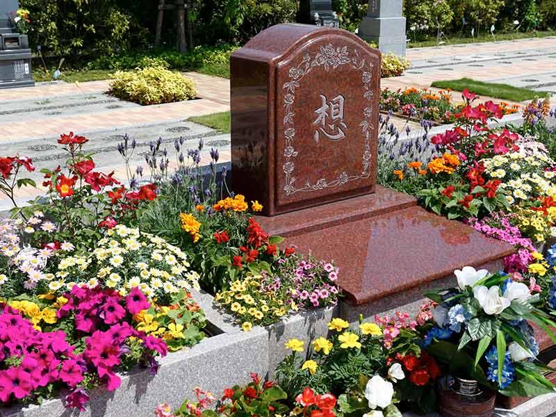 世田谷やすらぎ墓苑 花壇葬セレナージュ 御影石が美しい墓石