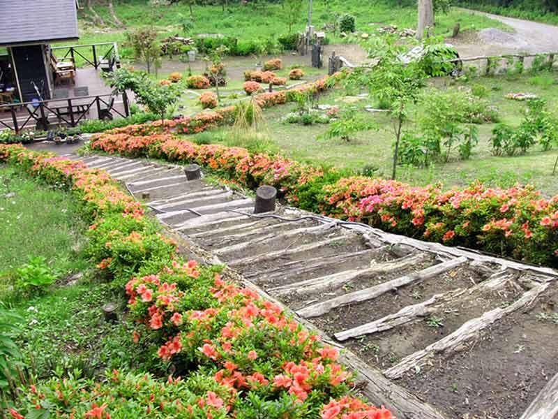 千の風 みらい園 樹木葬区画にある階段