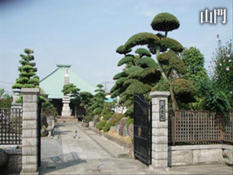 正受院 寺院入り口となる山門