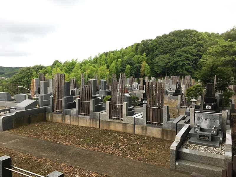 ゆぎ霊苑 緑豊かな墓域