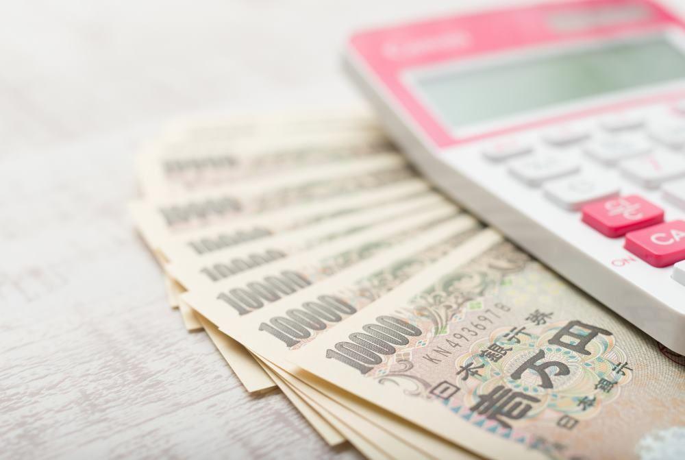 電卓、お金、納税、
