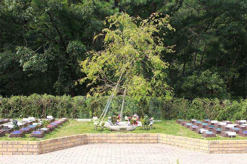 阪南小川渓メモリーズパーク「樹木葬」天上の碑
