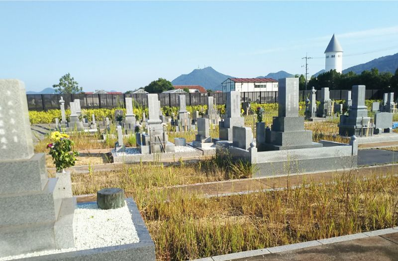 岡山市営 なださきメモリーパークから見晴らす風景