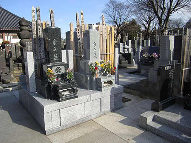 高林寺 区画整理された墓域