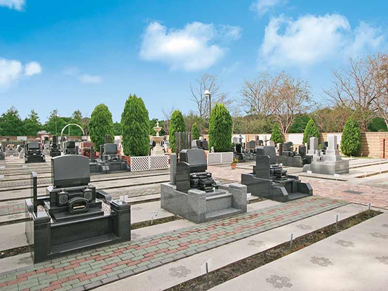 野田さくら霊園 広々とした墓域