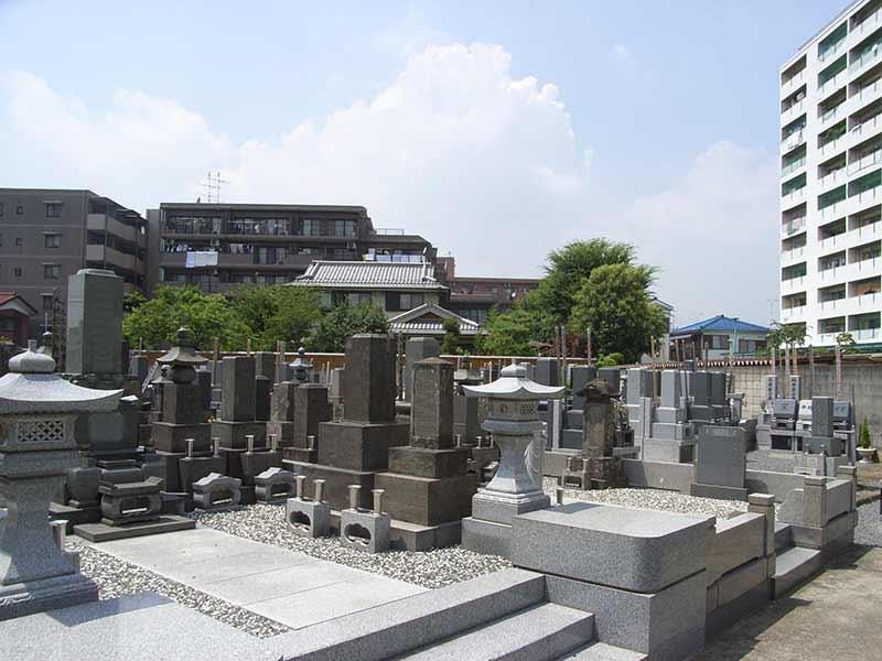 法性寺 墓域の風景
