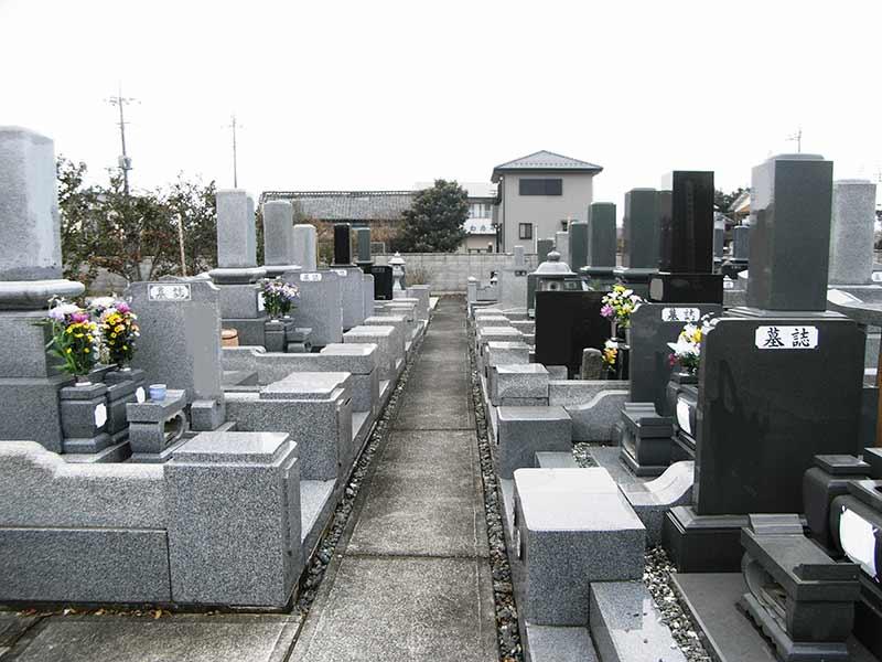保安寺霊園 整備された墓域
