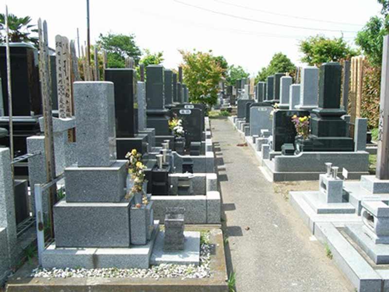 宝性院 花が添えられた墓域