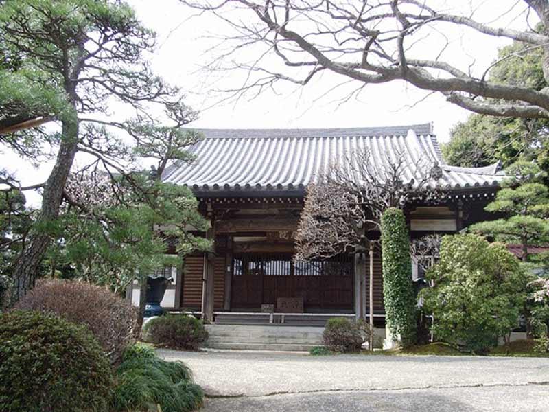 長澤山 秋月院 自然豊かな本堂