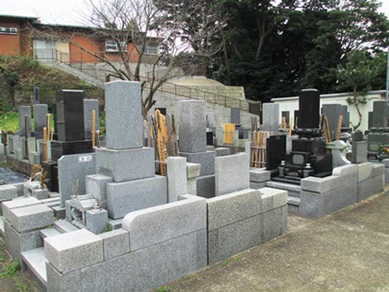 法道寺墓苑 区画整備された墓域