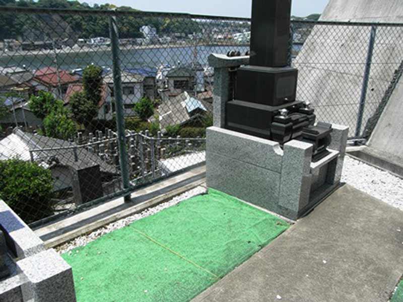東林寺 整備された区画