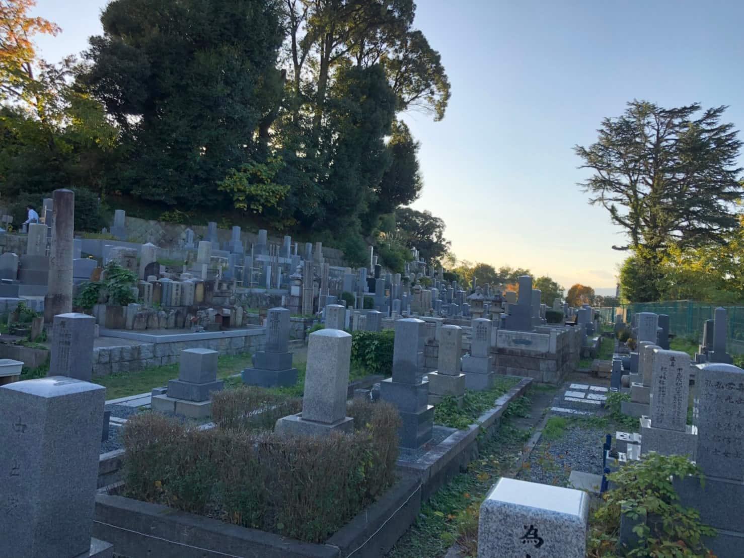 京都市営 地蔵山墓地の全体像