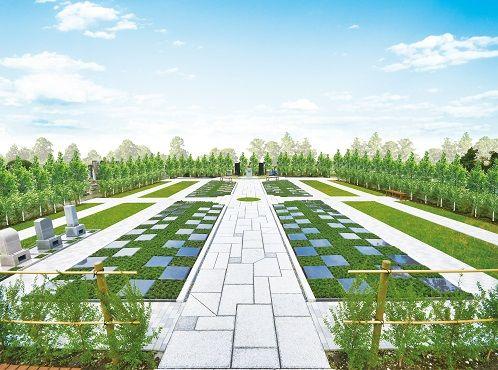 全区画フラットなバリアフリー設計の敷地
