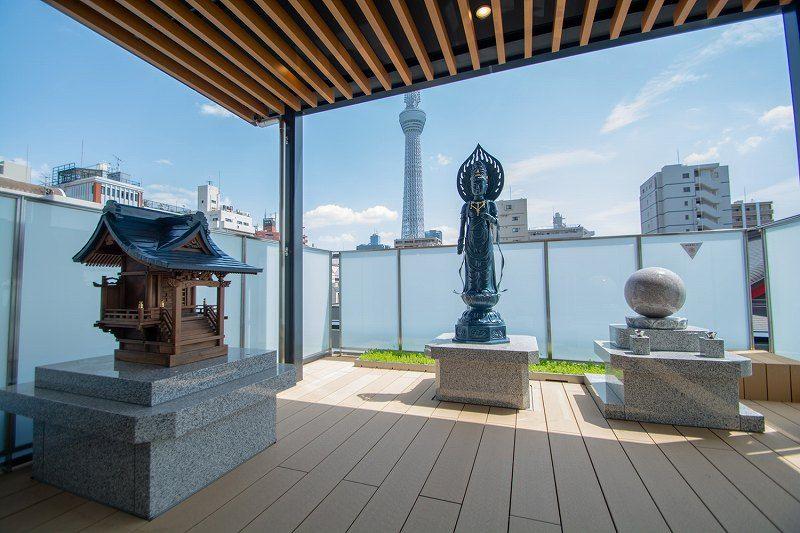 吾妻橋 天空陵苑のテラスから望む風景