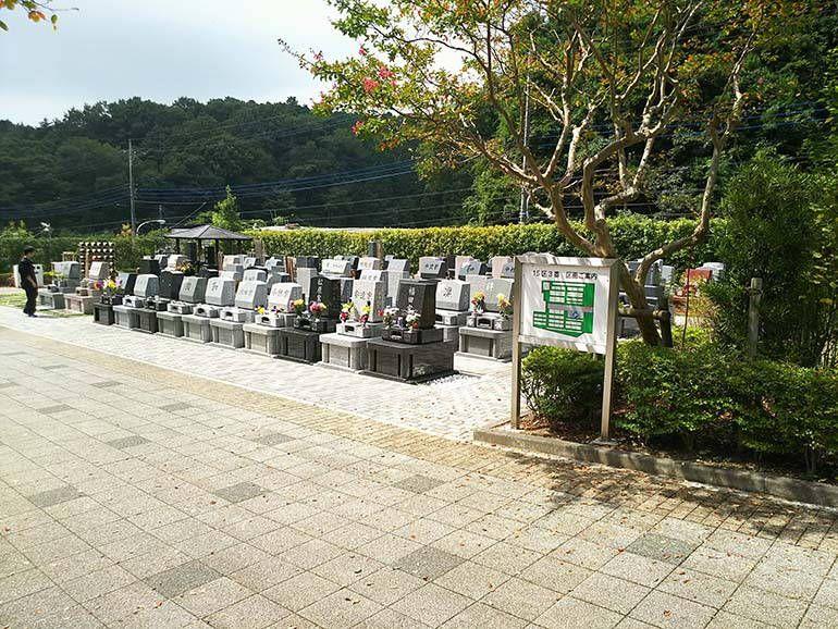 八王子上川霊園の整備された墓域