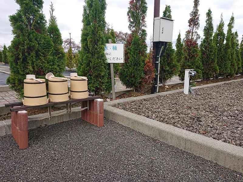 フジパーク霊園 見附 いくつかある水汲み場のひとつ