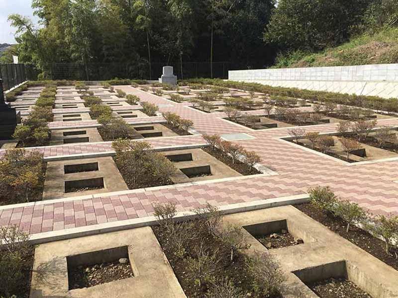 二宮霊園 ひかりの丘 木々に囲まれた建墓区画
