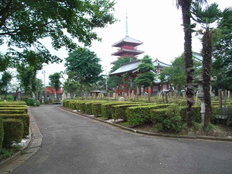 天海山 雲龍寺 光明霊園 五重塔が見える趣ある境内
