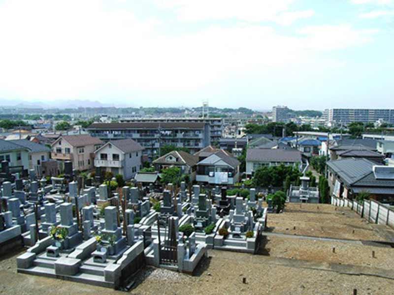 日蓮宗 妙経寺 日当たりが良く見晴らしの良い気霊園風景