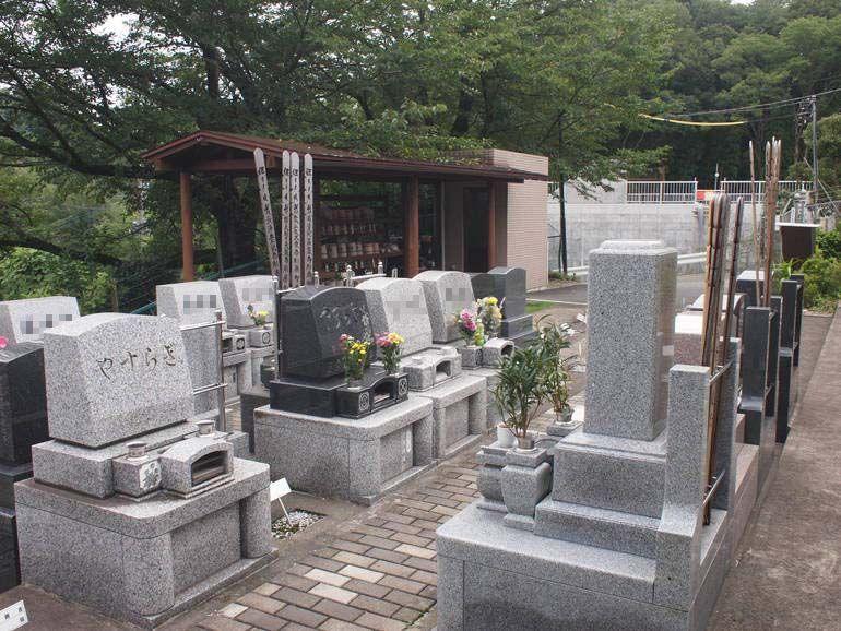 黒川光墓苑 和洋混在の墓石