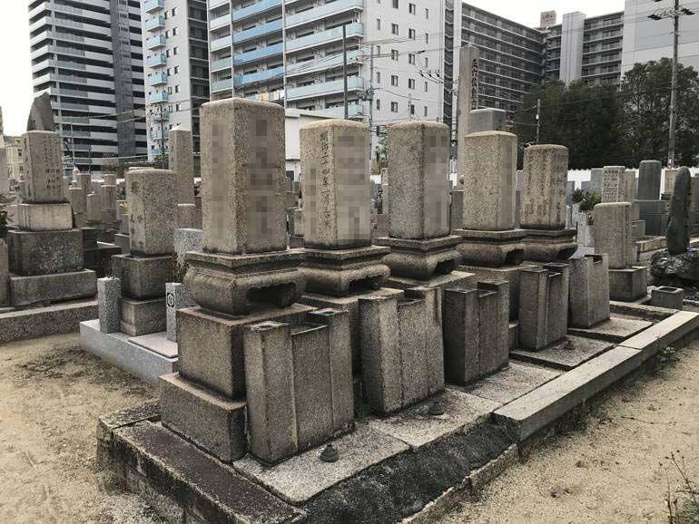 大阪市設 北霊園 和型墓石