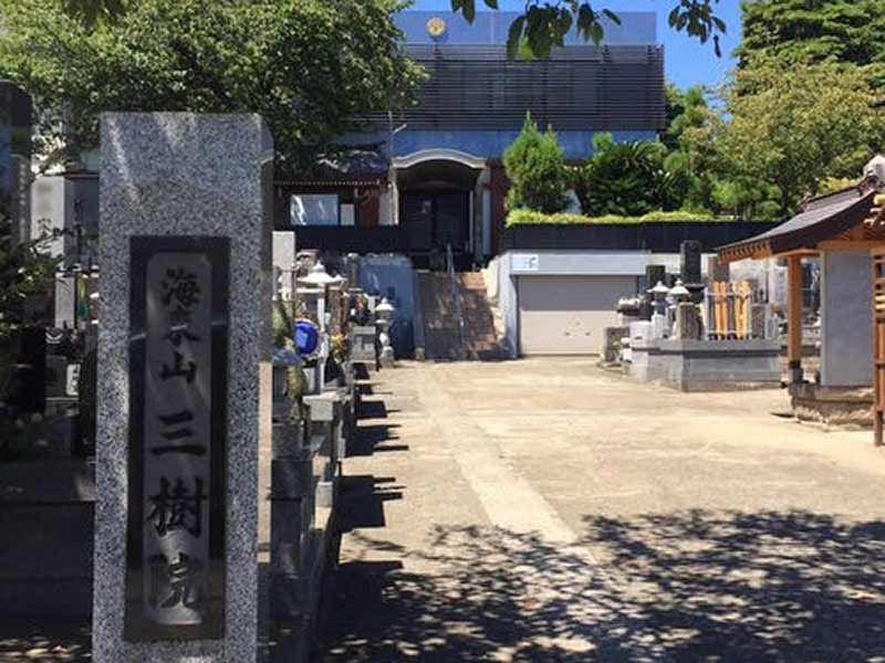 三樹院 のうこつぼ 寺号標石