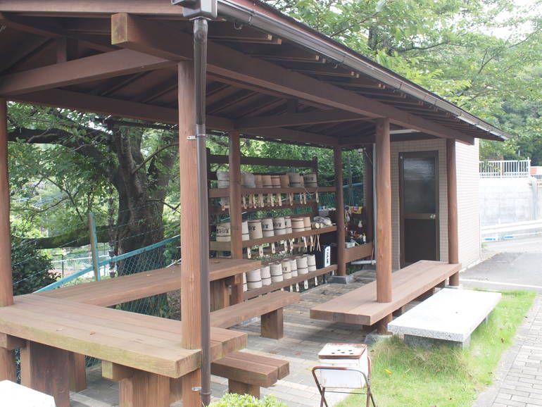黒川光墓苑 参拝道具完備の水汲み場