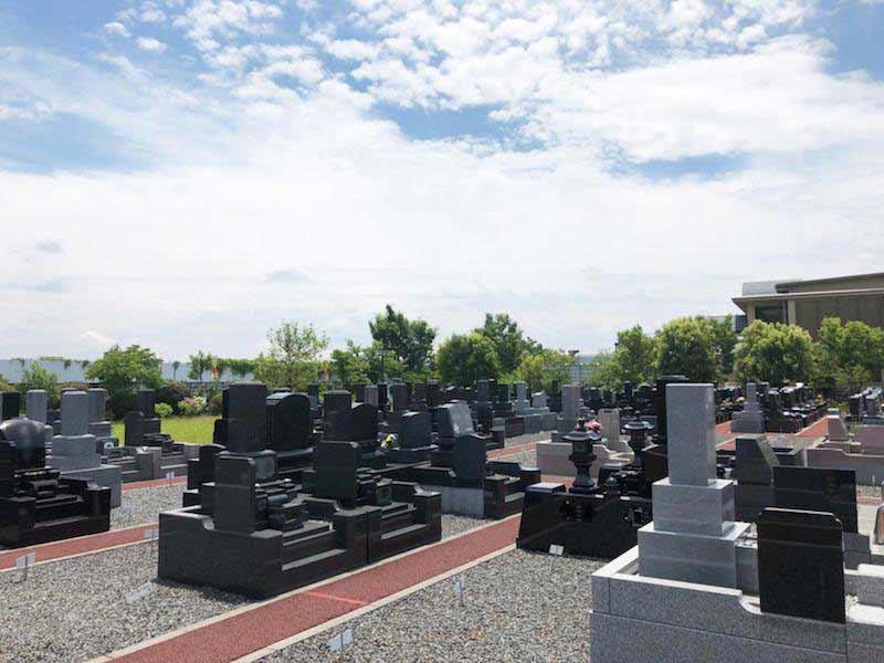 光明寺墓苑 日当たりのよい墓域