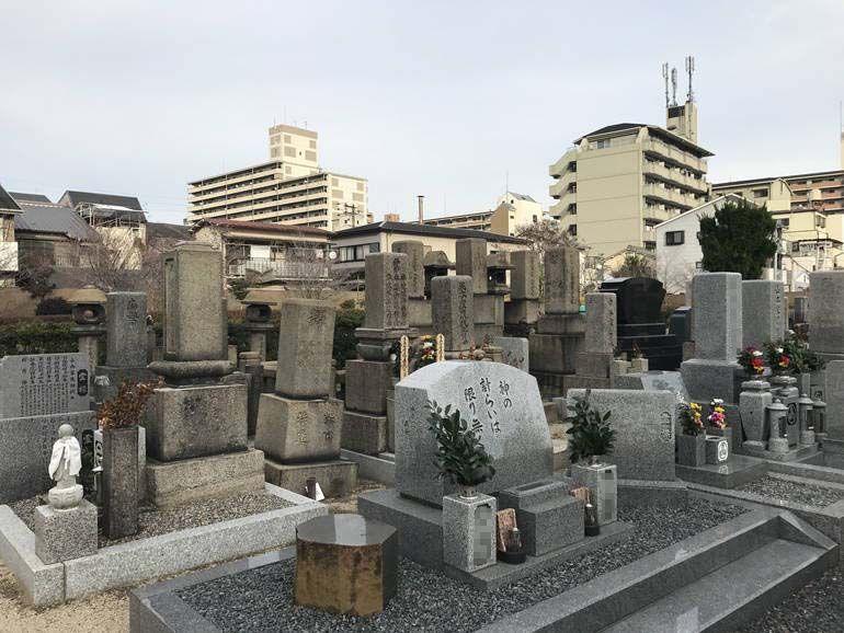 大阪市設 北霊園 洋型墓石