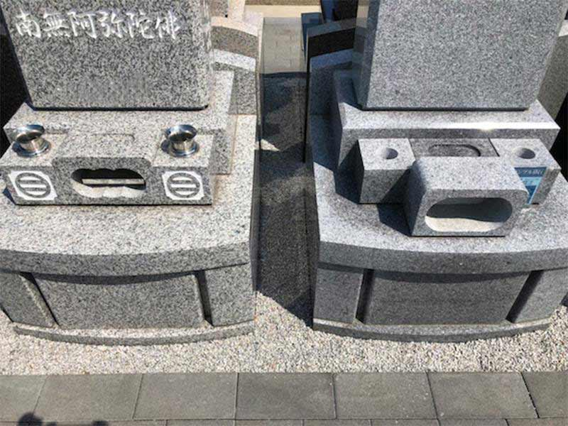 メモリーガーデン久喜清久霊園 ゆとりを設けた区画