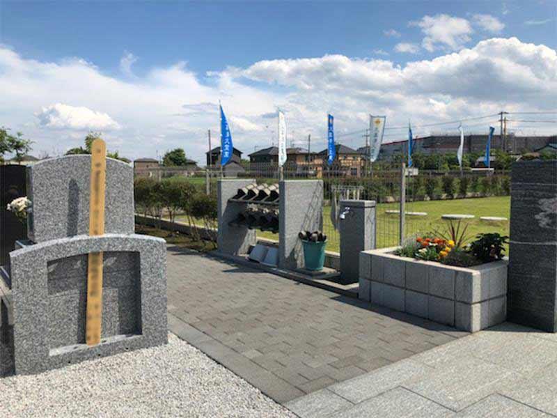 メモリーガーデン久喜清久霊園 水場には桶や柄杓を完備