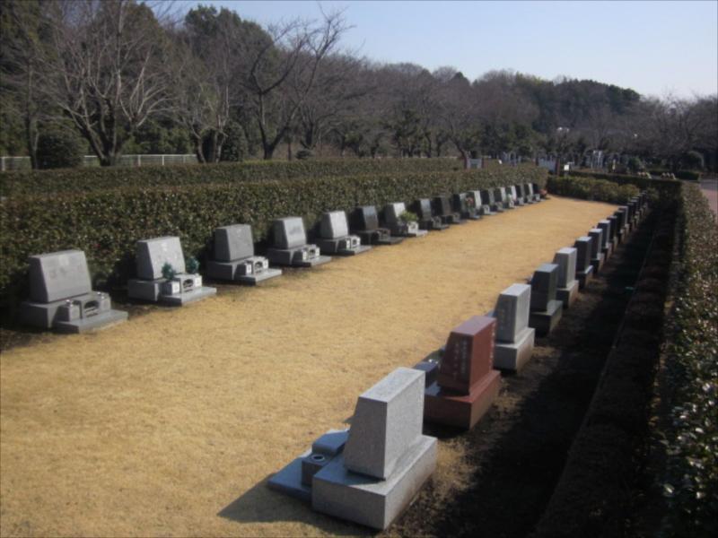 綾瀬市営 本蓼川墓園 ゆとりのある参道