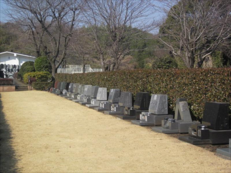綾瀬市営 本蓼川墓園 自然に囲まれた墓域