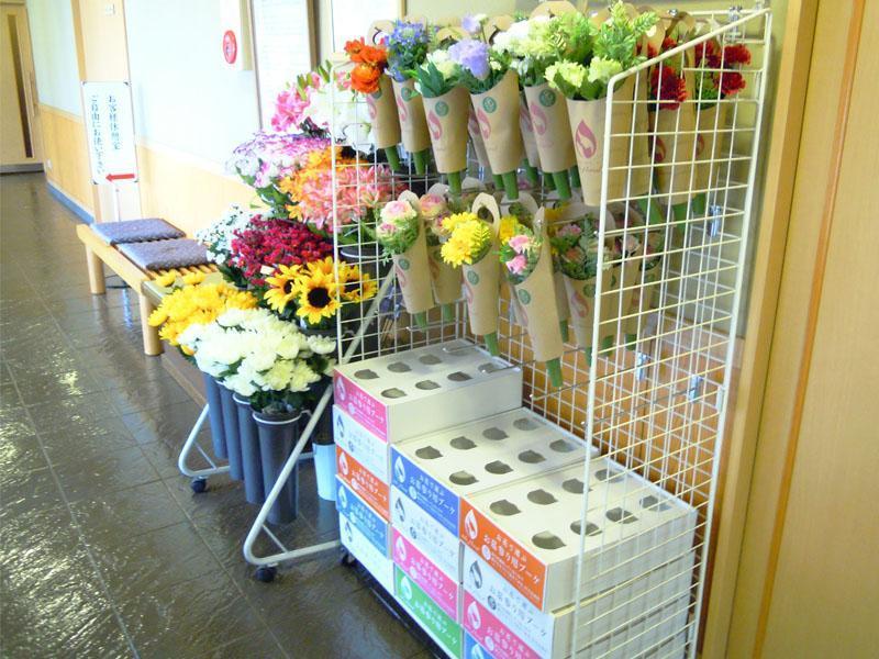 大師の杜墓苑 販売されている花々