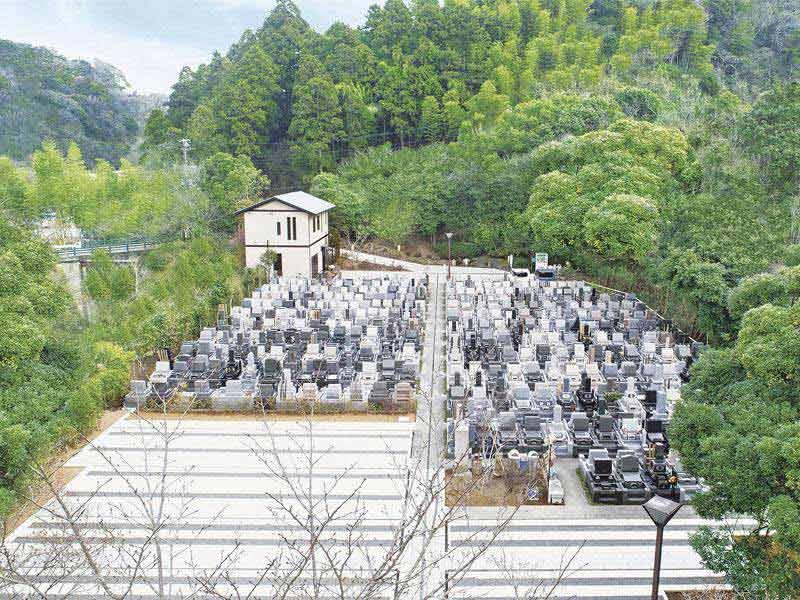 鎌倉湖墓苑二期 園内全景