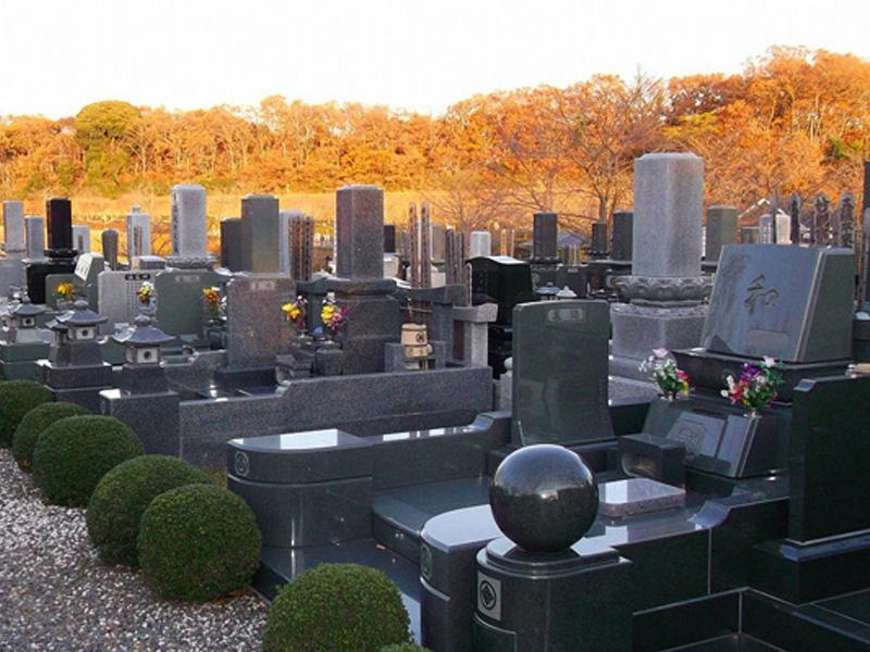 木更津市営霊園 霊園を囲む紅葉
