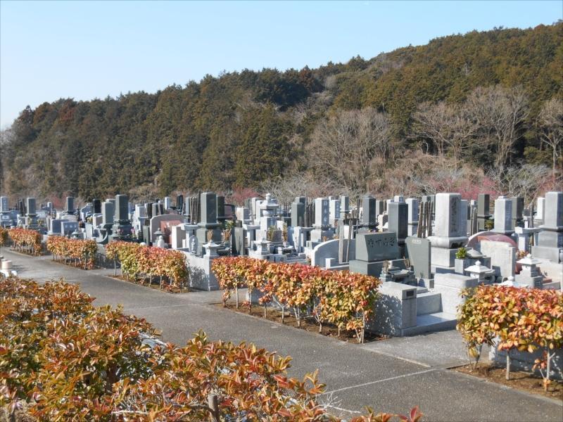 袖ヶ浦市営 墓地公園 一般墓所風景