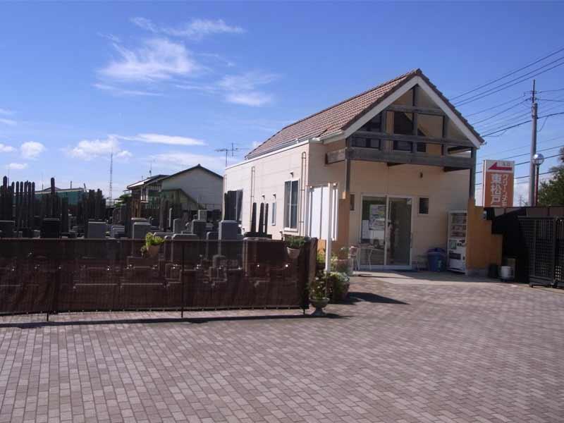 グリーンメモリアル東松戸霊園 管理棟内の休憩スペース