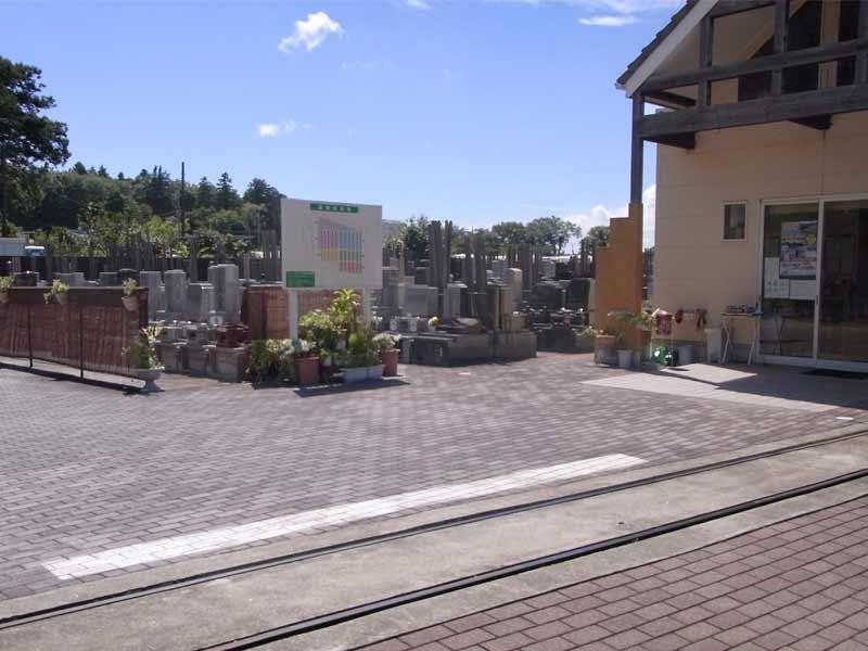 グリーンメモリアル東松戸霊園 墓域近くにある管理棟