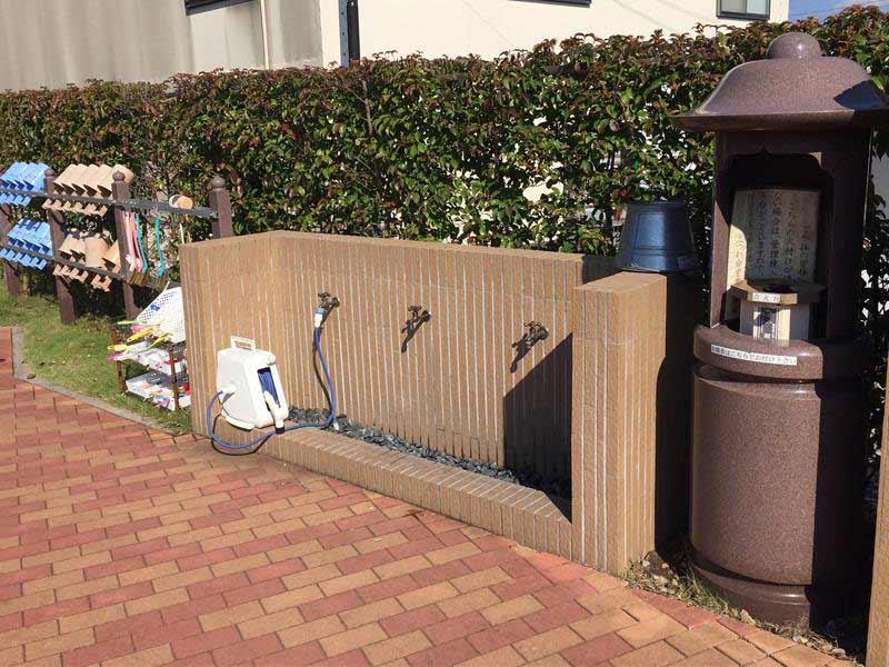 みつわ台霊園 殿台の杜 自由にお使い頂ける水道設備