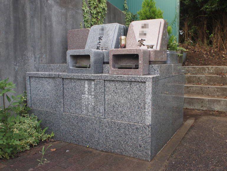 藤沢霊園 墓域の一角